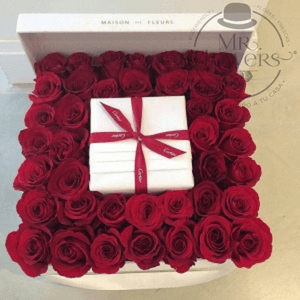 caja con 50 Rosas Rojas