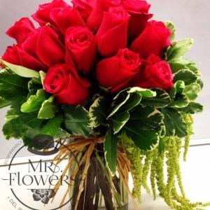 18 Rosas con Amaranto
